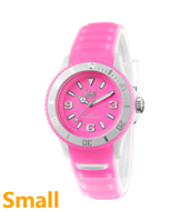 Ice-Glow Pink Glow-in-the-dark Watch, size Small