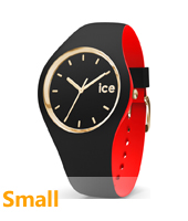 007225 Ice-Loulou 34mm Black & gold silicone watch