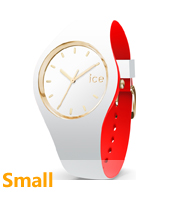 007229 Ice-Loulou 34mm White & gold silicone watch