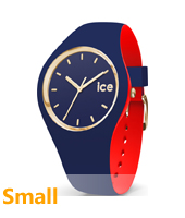 007231 Ice-Loulou 34mm Blue & gold silicone watch
