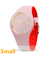 007234 Ice-Loulou 34mm Pink & gold silicone watch