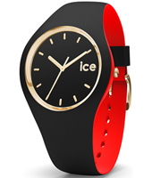 007235 Ice-Loulou 41mm Black & gold silicone watch