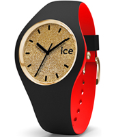 007238 Ice-Loulou 41mm Black & gold silicone watch
