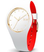 007239 Ice-Loulou 41mm White & gold silicone watch