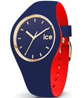 007241 Ice-Loulou 41mm Blue & gold silicone watch