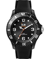 007277 Ice-Sixty Nine 43mm All black silicone fashion watch