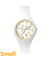 Ice-Skull 38mm Gold watch with skull dial and white silicone strap