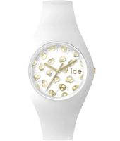 Ice-Skull White watch with skull dial and silicone strap