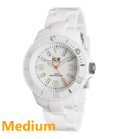Ice-Solid White watch size Medium
