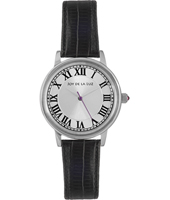+ JB23401 GIFT SET: Classic silver ladies watch with black leather bracelet