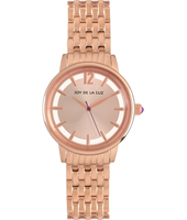 Retro look Rose Gold ladies quartz watch