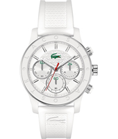 2000800 Charlotte Sporty chic silver chrono with white rubber strap