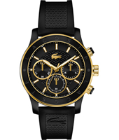 2000862 Charlotte Sporty chic gold ladies chronograph with black rubber strap