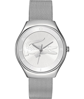 2000764 Valencia  Silver Ladies Watch with embossed crocodile