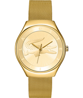 2000765 Valencia Gold Ladies Watch with embossed crocodile