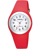 31mm Red & Silver Children's Watch on Silicone Strap