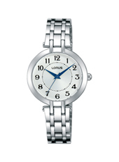 28mm Classic Ladies Watch with Blue Hands