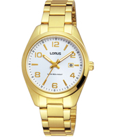 30mm Gold Ladies Watch with Date