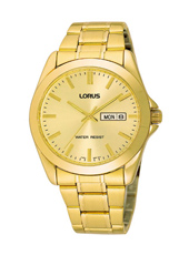 37mm Gold Gents Watch with Date