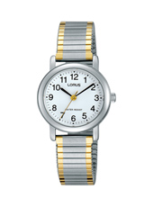 26mm Bicolor Ladies Watch with Flexible Metal Band