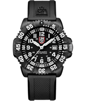 A.3051 Navy Seal Colormark 44mm Black & White Carbon Dive Watch on Rubber Strap