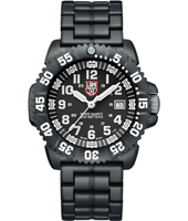 A.3052 Navy Seal Colormark  44mm Black & White Carbon Dive Watch with Date