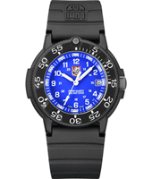A.3003 Original Navy Seals  43mm Black & Blue Carbon Dive watch on Rubber Strap