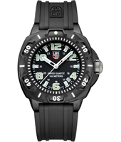 A.0201.SL Sentry  44mm Black Carbon Watch with Large Numbers on Rubber Strap