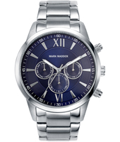 Classic 43.20mm Blue & Silver Mulitfunction Watch