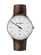 Neo 36mm White Automatic One Hand Watch with Date
