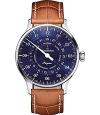 Pangaea DayDate 40mm Blue quartz one hand watch with day/date dials