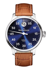 Salthora Automatic 'jumping hour' watch with blue sunray dial