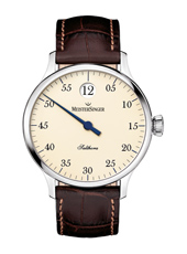 Salthora Automatic 'jumping hour' watch with cream coloured dial