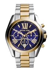 Bradshaw Navy Bicolor Chronograph with Blue Dial