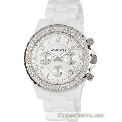 Michael Kors Jet Set Madison Round Glitz White MK5300