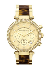 Michael Kors Parker-Chrono-Gold-Tortoise MK5688 - 2012 Fall Winter Collection