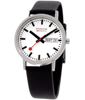 Mondaine Classic-DayDate-White A667.30314.11SBB - 2011 Spring Summer Collection