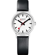 Mondaine Classic-White-Matte-Leather A658.30323.16SBB -