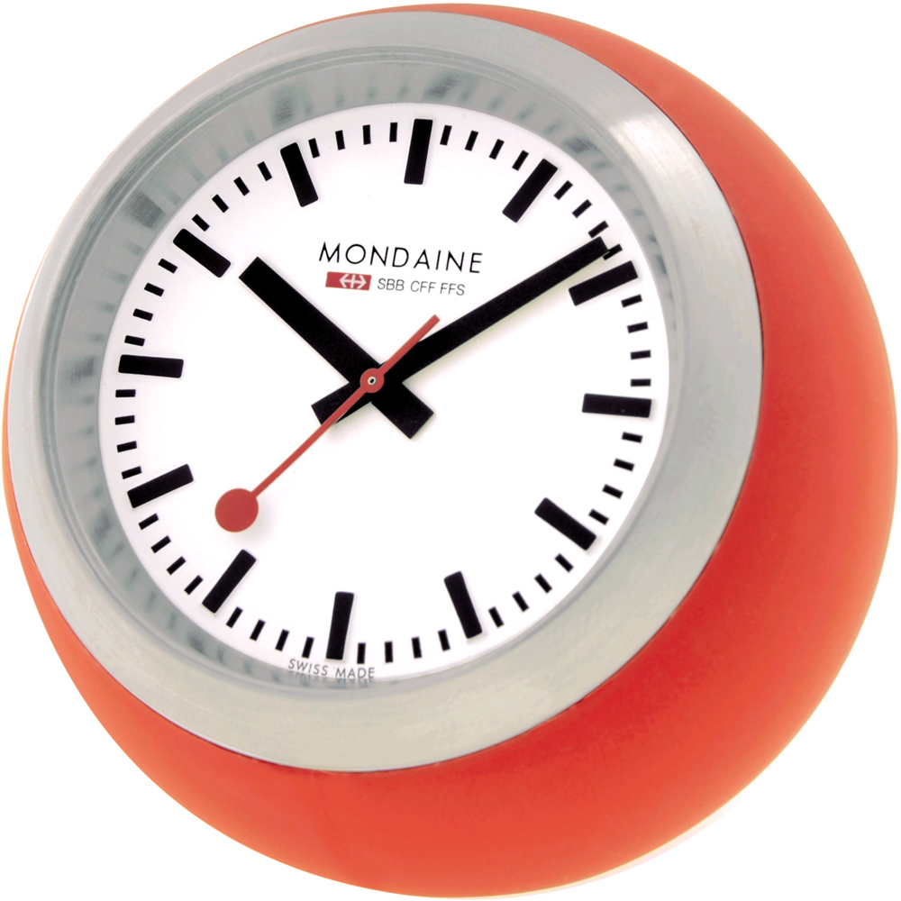 Mondaine clocks clock desk globe - Mondaine wall clock cm ...