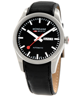 Mondaine Retro-Auto-Day-Date-Black A135.30345.14SBB -