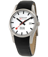 Mondaine Retro-Day-Date-White A667.30340.11SBB -