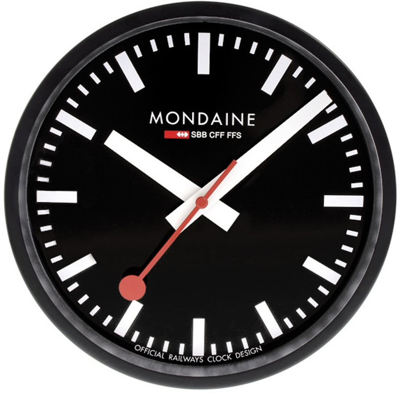 Mondaine a990 railways clock wall clock 25 cm - Swiss railway wall clock ...