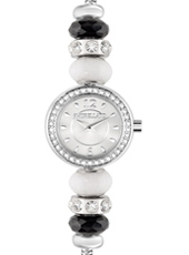 R0153122502 Drops Time Silver ladies bracelet watch with crystals & beads