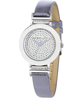 R0151103513 Firenze Silver ladies watch with purple leather strap