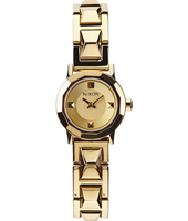 Mini B 22mm Gold Ladies watch with Faceted Bezel
