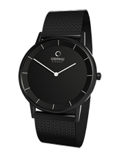 Obaku V143G--All-Black-Milanese V143GBBMB -