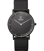 Obaku V143G-All-Black-Leather V143GBBRB -