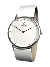 Obaku V143G-White-Leather V143GCWRW -