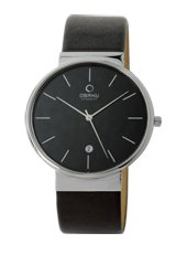 Obaku V153G-Black-Leather V153GCBRB - 2012 Fall Winter Collection