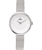 V177 28mm Silver Design Watch with Crystals